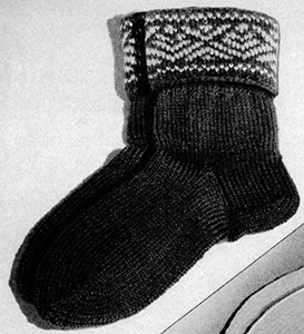 Knitted Socks Pattern #2277