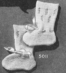 Knitted Bootees Pattern #5011
