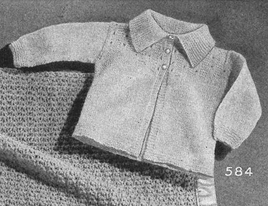 Knitted Sweater Pattern #584