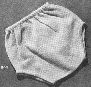 Knitted Pants Pattern #597