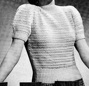 Jiffy Knit Pullover Pattern #1157