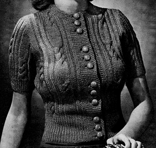 Birch Bark Cardigan Pattern #1166