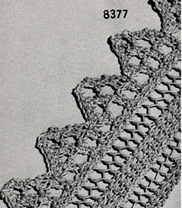 Knitted Edging Pattern #8377