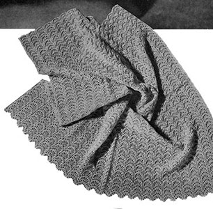 Free Vintage Knitting Patterns For Baby Blankets : Shell Shawl Pattern #5045 Knitting Patterns