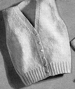 Sleeveless Sweater Pattern #5047