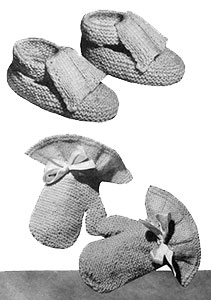 Mitten and Shoe Set Pattern #5061
