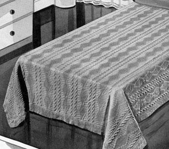 Trailing Vine Bedspread Pattern