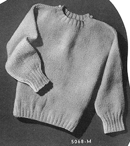 Pat-a-Cake Pullover Pattern #5068