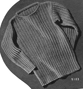 Tommy Tucker Pullover Pattern #5103