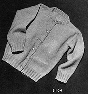 Brooks Type Cardigan Pattern 5104 Knitting Patterns