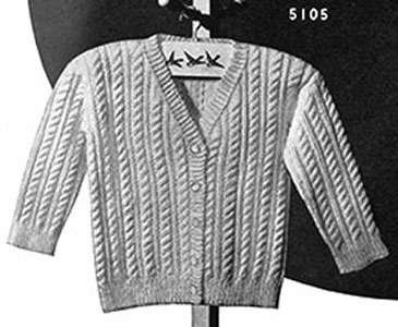 Sally Waters Cardigan Pattern #5105