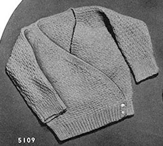 Hush-a-Bye Baby Cardigan Pattern #5109