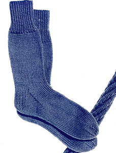 Plain Sock Pattern #S-112