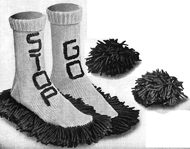 Stop and Go Shoe Socks and Hair Dos Pattern #2555