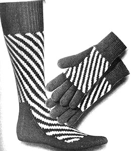 Striped Socks and Gloves Set Pattern #372