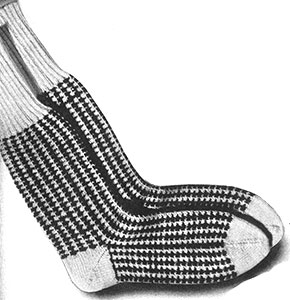 Checked Socks Pattern #377