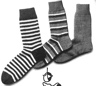 Three Short Socks Set Pattern #5124