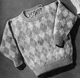 Argyle Pullover Pattern #5151