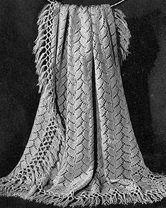 Knitted Shawl Pattern #5157
