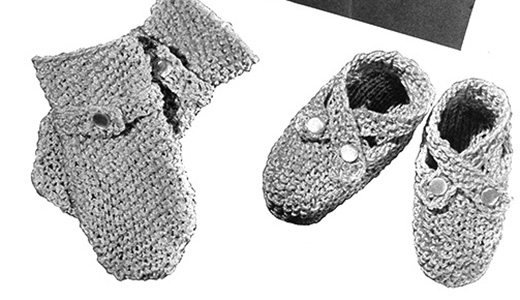 Shoes and Mitts Pattern #5206