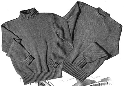 Round or Turtle Neck Pullover Pattern #S-108