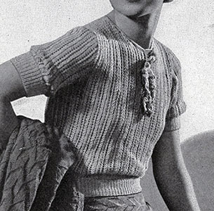 Lacy Knitted Striped Blouse Pattern #11