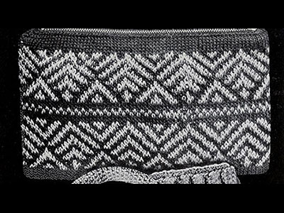 Zig Zag Knitted Bag Pattern #2051