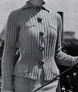 Golfer Cardigan Pattern #1048