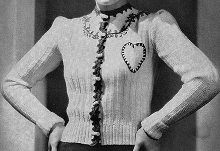 Feather-in-Your-Cap Cardigan Pattern #1058