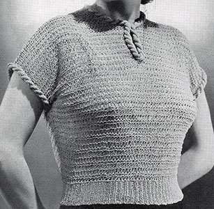 Jiffy Knit Blouse Pattern #1100
