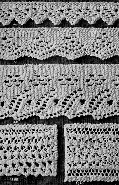 Knitted Lace Edging Patterns : Edging Patterns Knitting Patterns