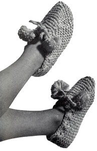 Knitted Garter Stitch Slippers Pattern