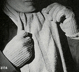Man's Knitted Gloves Pattern #3116