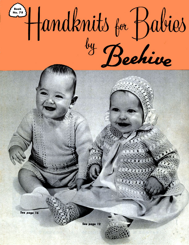 Handknits For Babies By Beehive Book No 78 Knitting Patterns