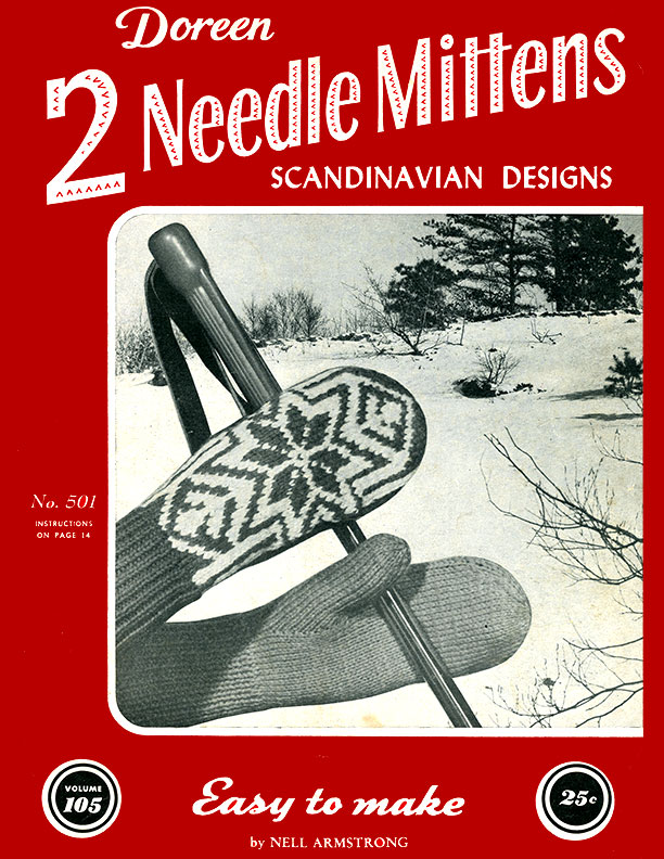 Two Needle Mittens Scandinavian Designs | Volume 105 | Doreen Knitting Books