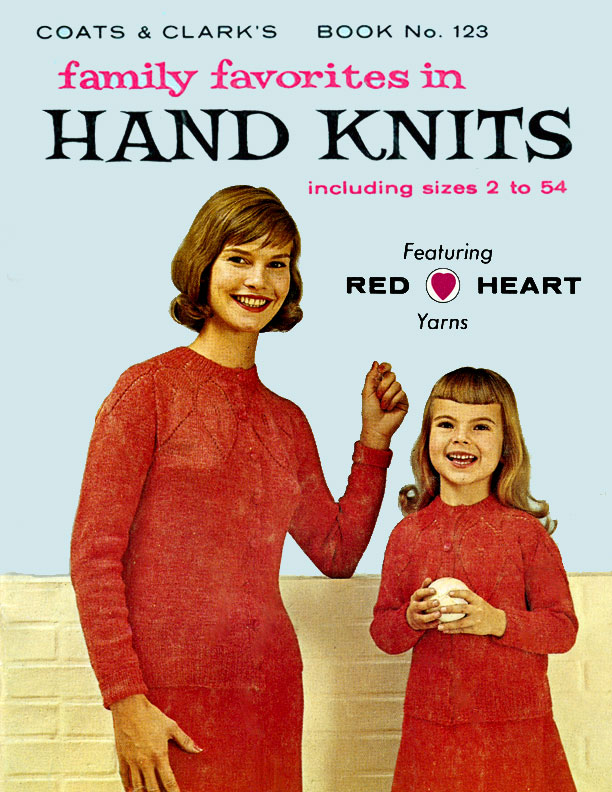Family Favorites in Hand Knits | Coats & Clark's Book No. 123