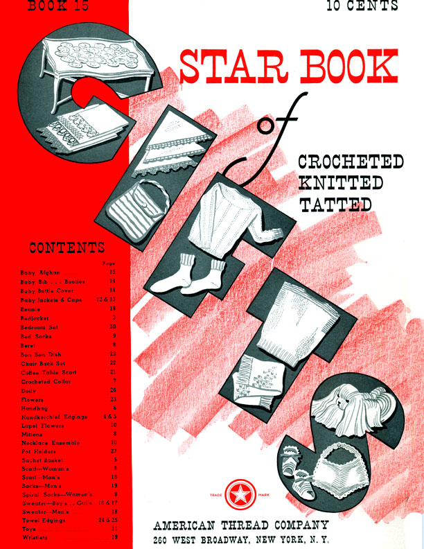 Star Book of Crocheted, Knitted | Star Book No. 15 | American Thread Company