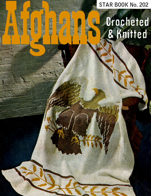 Afghans Crocheted & Knitted | Star Book No. 202 | American Thread Company
