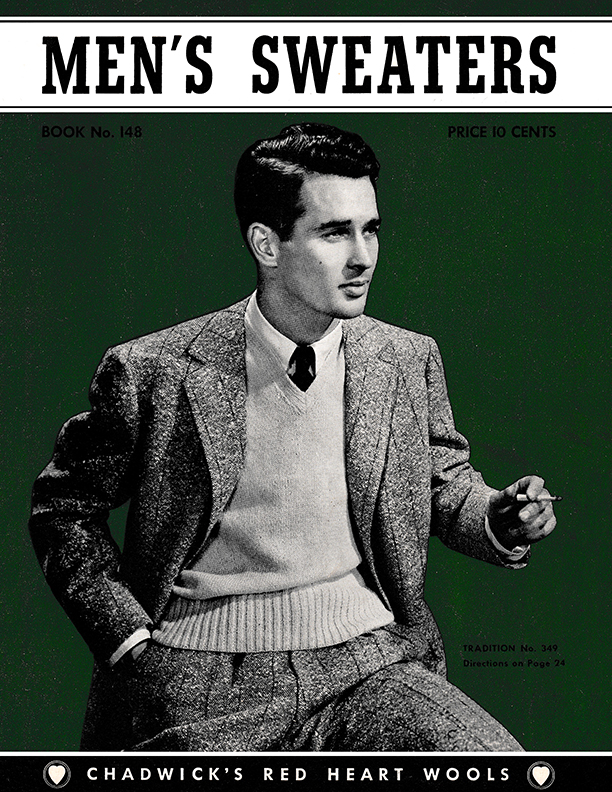 Men's Sweaters | Book No. 148 | The Spool Cotton Company