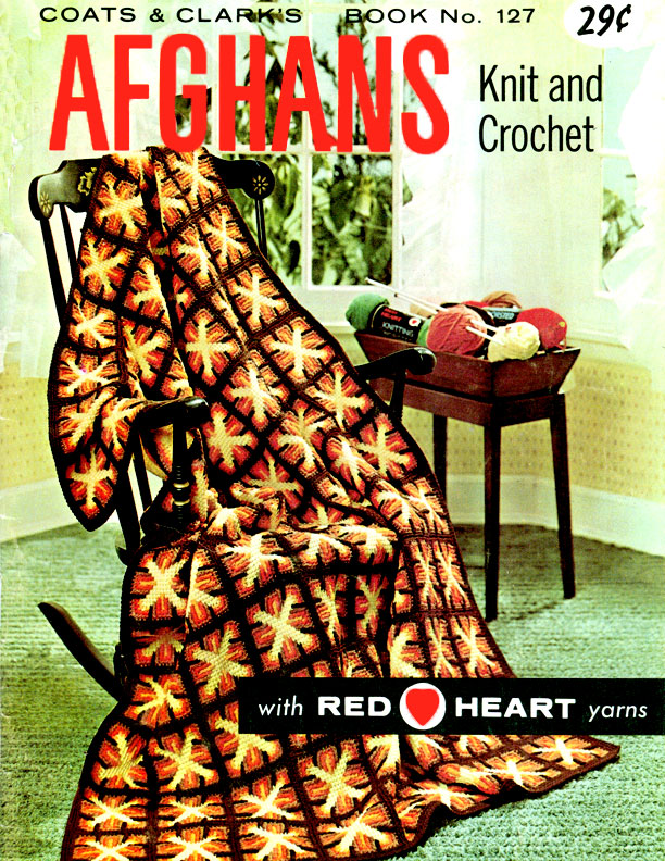 Afghans Knit and Crochet | Coats & Clark Book No. 127