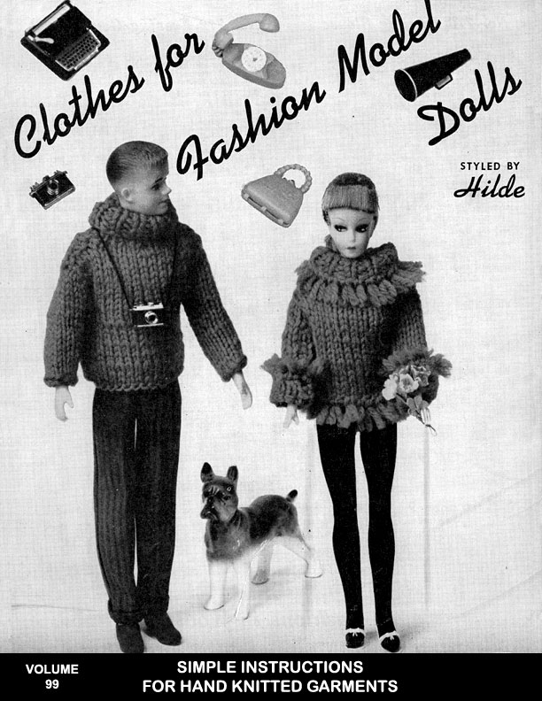 Clothes for Fashion Model Dolls | Fashions in Wool | Styled by Hilde Volume No.