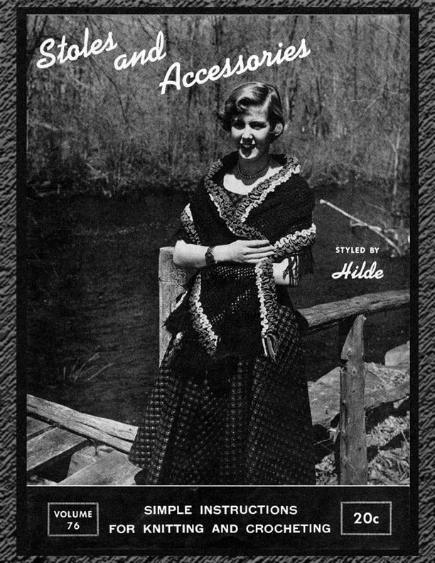 Stoles and Accessories | Fashions in Wool | Styled by Hilde Volume No. 76