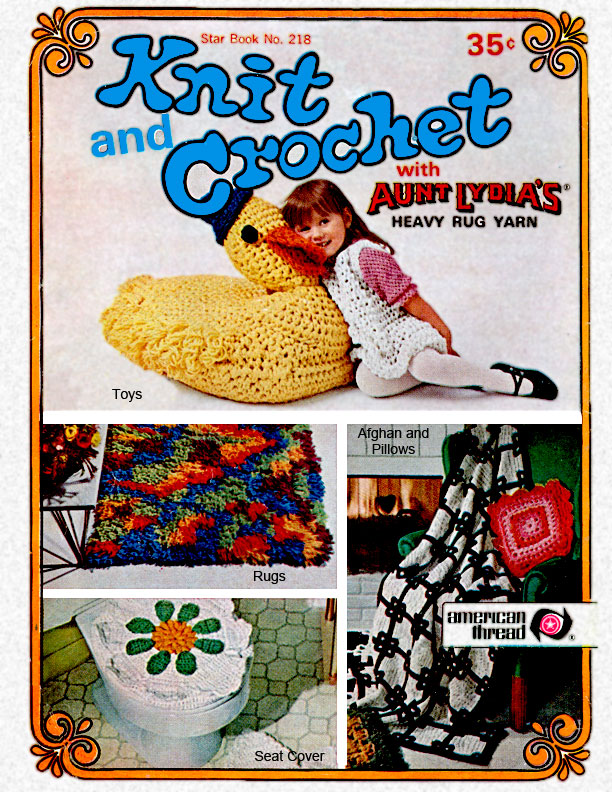 Knit & Crochet with Heavy Rug Yarn | Star Book No. 218
