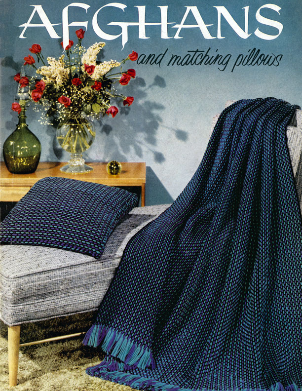 Afghans and Matching Pillows | Coats & Clark's O.N.T. Book No. 505