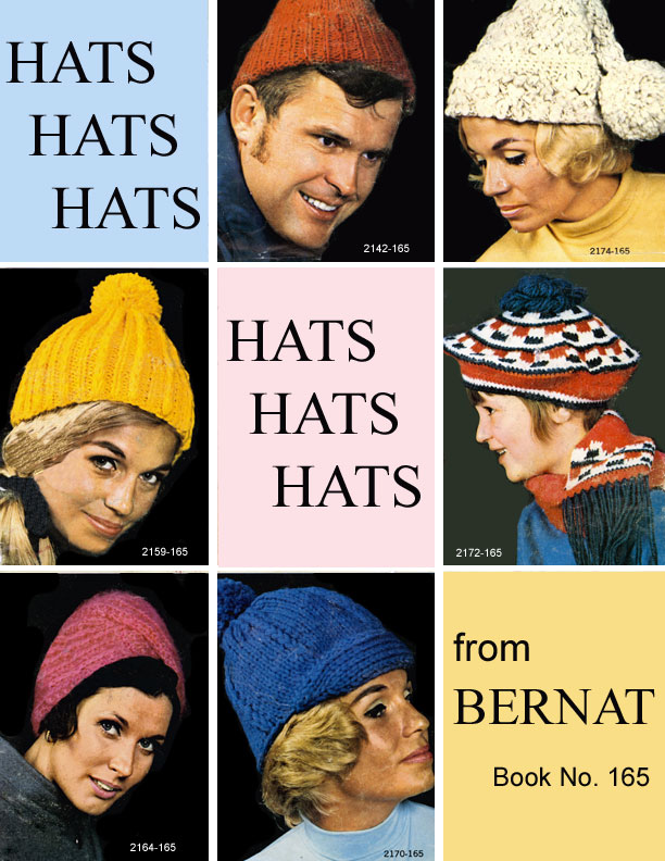 Hats Hats Hats | Bernat Handicrafter Book No. 165