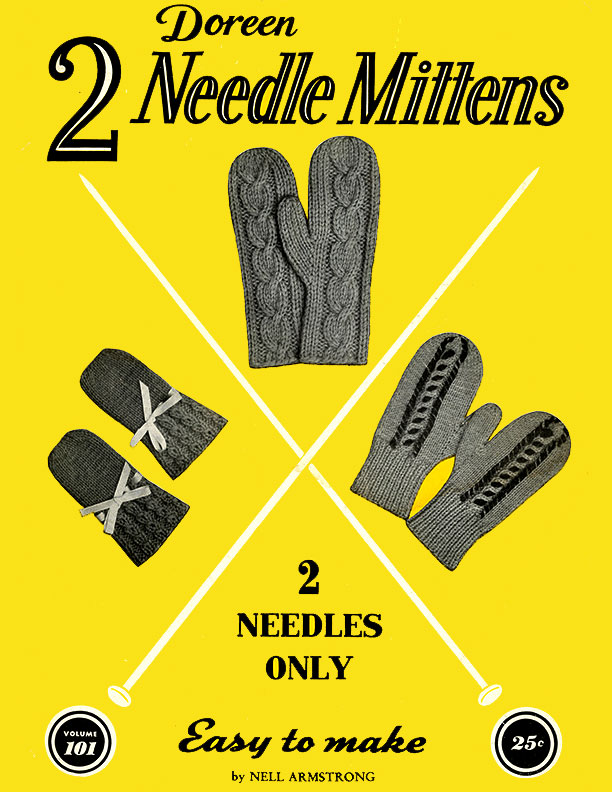 Two Needle Mittens | Volume 101 | Doreen Knitting Books