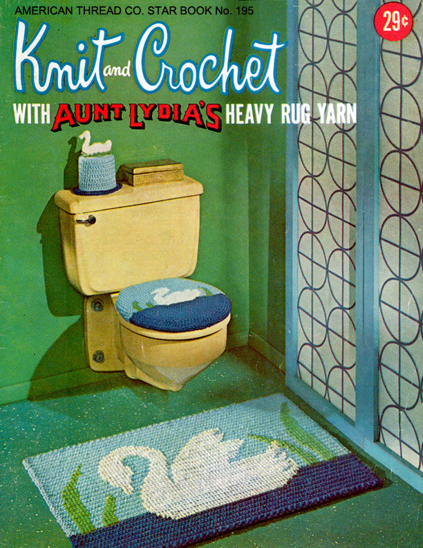 Knit & Crochet with Aunt Lydia's Heavy Rug Yarn | Star Book No. 195