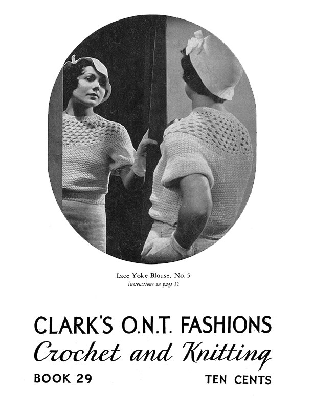 Fashions Crochet and Knitting | Book No. 29 | The Spool Cotton Company